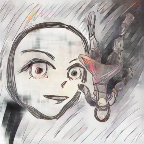 仮面の女騎士と鎧の俺